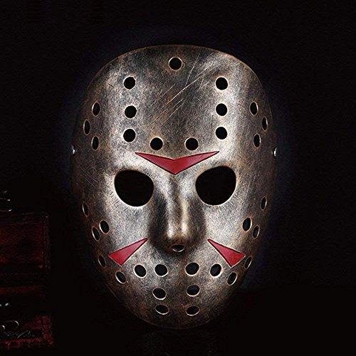 PinnacleT1 Jason vs Freddy Mask,Cosplay Halloween Costume Mask Prop Horror Hockey for Kids]()