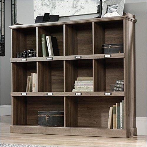 Bowery Hill Bookcase in Salt Oak Rustic Corner Bookcases