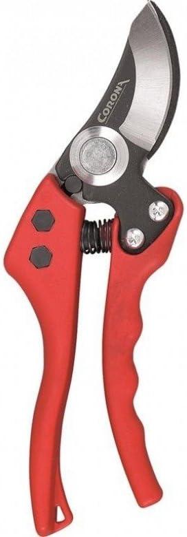 Corona BP 4180 Tijera de poda de una Mano Ergonómica-para Cortes de Ramas hasta 19 mm de diámetro, Rojo