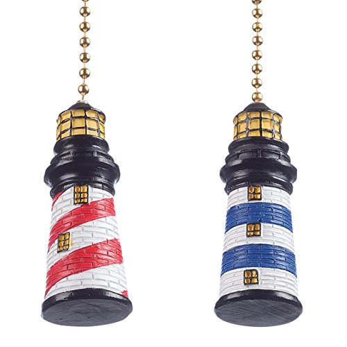 Lighthouse Fan & Light Pulls, Set of ()