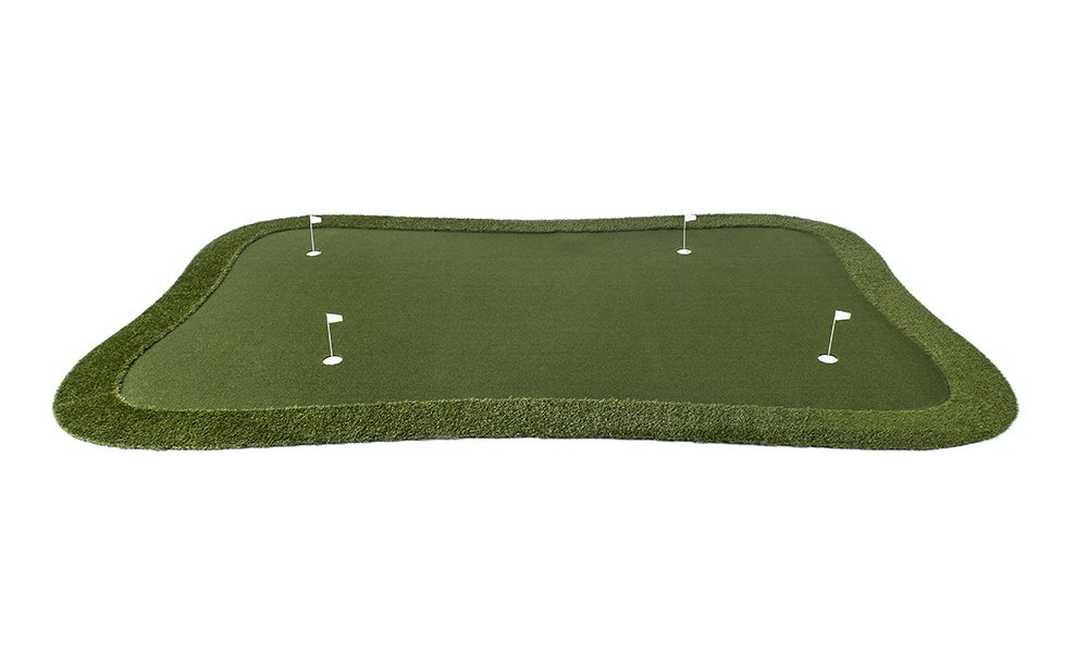 Professional Synthetic Nylon Turf Practice Putting Green with Fringe - 12 feet x 18 feet