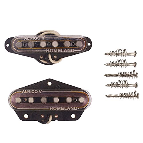 MonkeyJack Alnico V Guitar Bridge Neck Set Magnetic Pickup for Fender Telecaster Parts