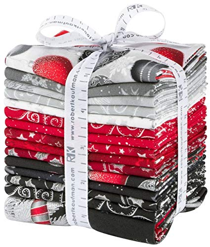 Winter's Grandeur 7 Holiday 20 Fat Quarters 1 Panel Robert Kaufman Fabrics FQ-1501-21 ()