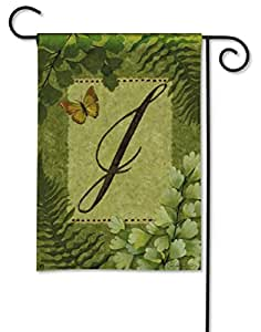Nature's Script Monogram K Garden Flag by BreezeArt