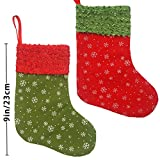 "Ivenf 12 Pack 9"" Snowflake Felt Christmas Stockings Party Decorations Gift/Treat Bags"