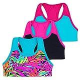 Layla Racerback Crop Top, Gymnastics & Dancewear, Tagless, 3-Pack, Green, 6