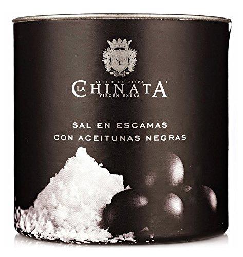 Sal Marina en Escamas 'Aceitunas Negras' (165 g) – La Chinata