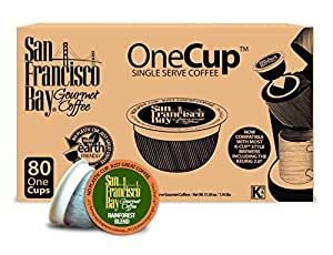 San Francisco Bay OneCup, Organic Rainforest Blend, 80 Single Serve Coffees