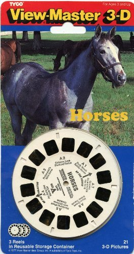 ViewMaster - HORSES - 3 Reels on Card- NEW