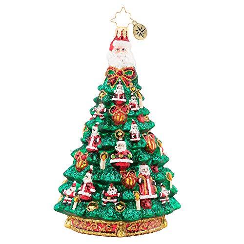 (Christopher Radko Santa Tree Christmas Ornament, Green)