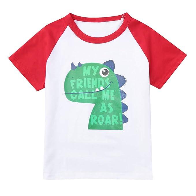 Kinder Kleidung Kinder Jungen Sommer Kurzarm Cartoon Print T-shirt Attraktive Mode T-stücke