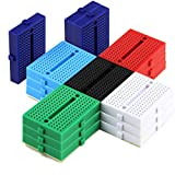 18pcs 170 Points Experiment Solderless Breadboard with Adhesive Tape for Proto Shield Circboard Prototyping (6 Colored, 3 of Each Color)