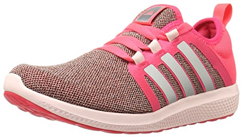 Adidas Performance Womens Fresh Bounce Running Scarpa Shock Rosso / Metallic Silver / Halo Pink S