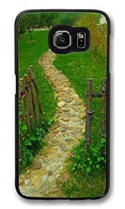 Happiness without end 13 Polycarbonate Hard Case Cover for Samsung S6/Samsung Galaxy S6 Black