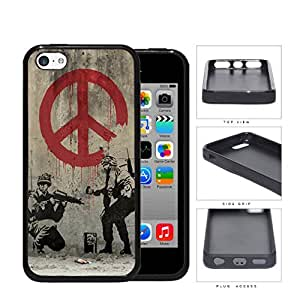 Soldiers Anti-War Peace Symbol Painting Rubber Silicone TPU Cell Phone Case Apple iPhone 5c