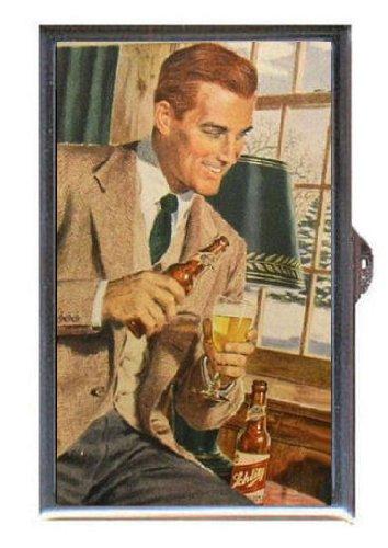 1950s Preppy (SCHLITZ BEER 1950s RETRO AD PREPPY DUDE Guitar Pick or Pill Box USA Made)