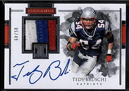 Tedy Bruschi Auto  49 Jersey Patch 2018 Panini Impeccable New England  Patriots a059b8fcd