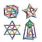 Elongdi 130 Pieces - Magnetic Building Sticks