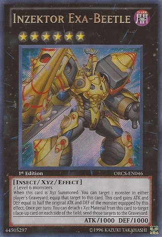 Yu Gi Oh    Inzektor Exa Beetle  Orcs En046    Order Of Chaos   1St Edition   Secret Rare