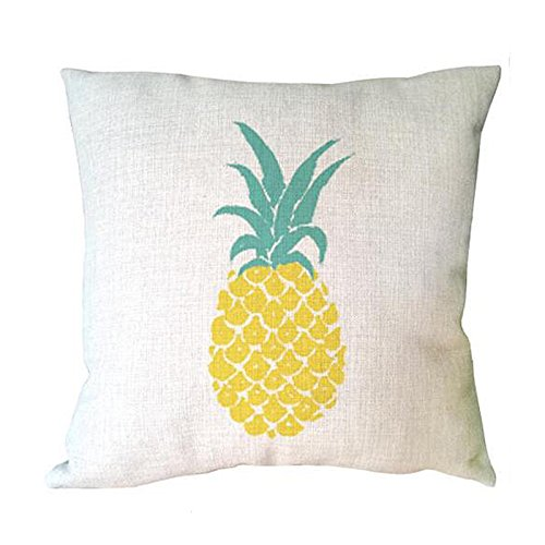 ME COO Hand Painting Fruit Pineapple Ananas Decorative Cushion Cover Pillowcase Decorative Linen Cotton Sofa Pillow Covers 45x45cm (ME-BZX-182)