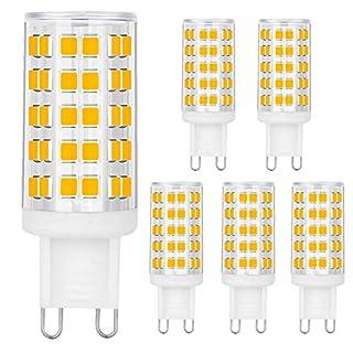 BALDER Dimmable G9 6W LED Bulb, 60W Halogen Bulb Replacement, Warm White 3000K, 110V-130V, Bi Pin,6-Pack