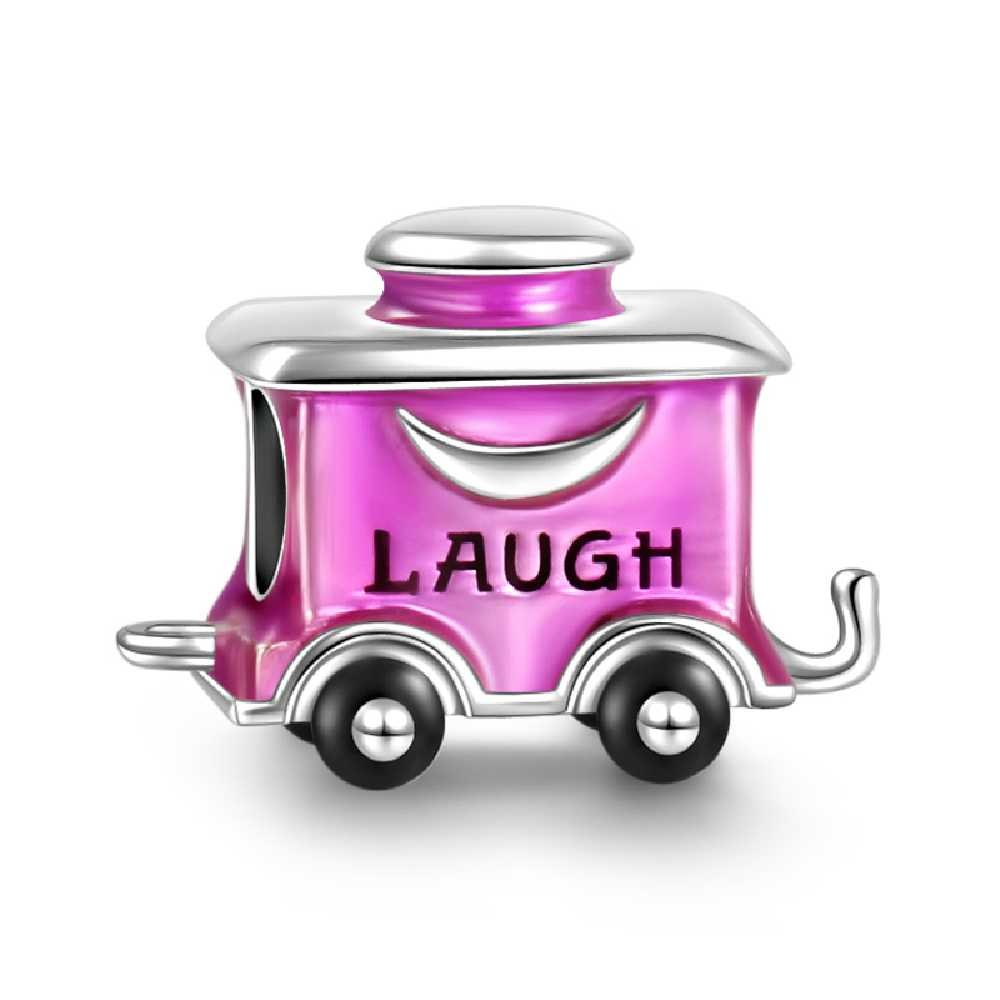 SOUFEEL Laugh Purple Railway Carriage Charm 925 Sterling Silver Romantic Gifts for Your Love on Anniversary Christmas
