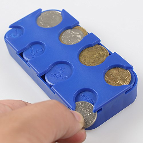 blu 2 Da Moneta Scomparti Blu A Rettangolare 1 Cent Euro Portamonete 8 Savori xPCwf8Bqc