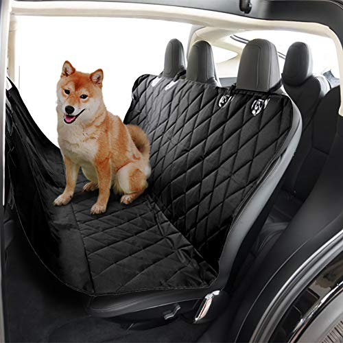 Dog Seat Cover for Tesla Model 3 Model X S, TapTes Rear Seat Pet Cargo Covers Waterproof Scratch Proof Backseat Protector Dog Hammock Car Trunk Accessories for Tesla Model 3 Model S Model X (5-Seater)
