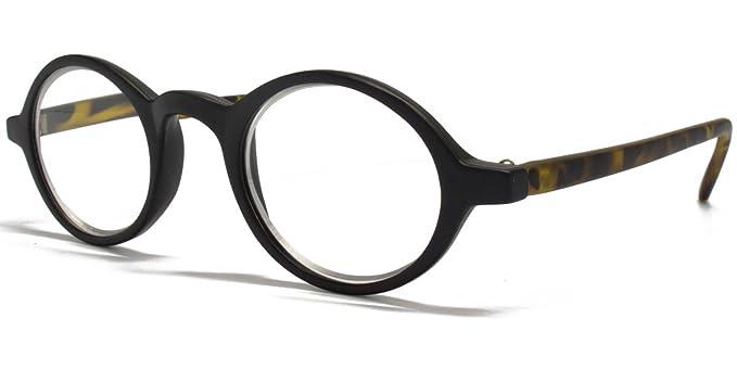 caaa651b3e Icon Eyewear Small Round Black Tortoiseshell +1.00 Reading Glasses   Amazon.co.uk  Health   Personal Care
