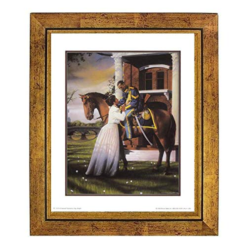 Farewell: Buffalo Soldie by Edward Clay Wright (10x8 inches - Framed Art Print) (Gold ()