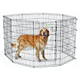 Midwest Homes for Pets Exercise Pen for Pets with Full Max Lock Door, 42-Inch, Black