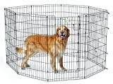 Cheap MidWest Homes for Pets Exercise Pen for Pets with Full Max Lock Door, 42-Inch, Black