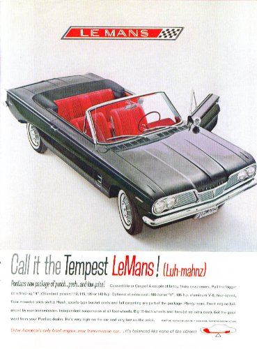 Call it LeMans! Pontiac Tempest convertible ad 1962