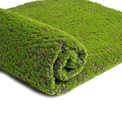 VORCOOL Artificial Grass Turf Lawn Artificial Grass Synthetic Thick Lawn Carpet Miniature Garden Dollhouse Ornament for Home Garden Patio Decoratio (Color Point)