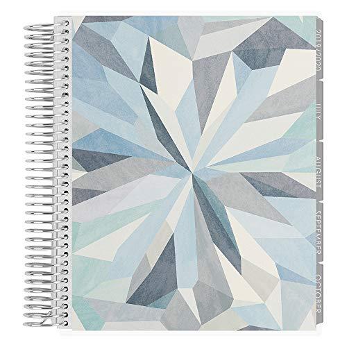 Erin Condren 12-Month July 2019 - June 2020 Coiled LifePlanner - Kaleidoscope Neutral, Horizontal (Neutral Layout)