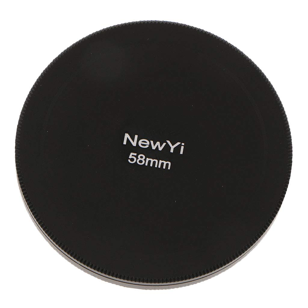 D DOLITY 58mm 2.28' UV CPL Filter Case Metal Camera Lens Storage Cap Box Black, Also Can be Used as Lenses Cover 075503710003368551805