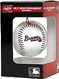 Jarden Sports Licensing MLB Atlanta Braves Unisex MLB OS PDQ Atlbra Ornmt Bbmlb OS PDQ Atlbra Ornmt BB, Red/Blue, Small