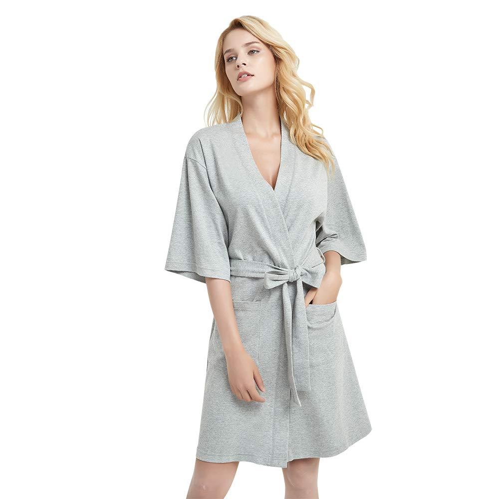 U2SKIIN Womens Cotton Robe Lightweight Short Kimono