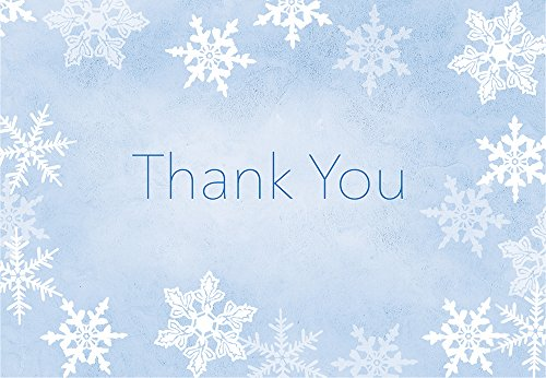 "Great Papers! Merry Snowflake Foil Thank You Notecard, 50 count, 4.875""x3.375"""" (2015105)"