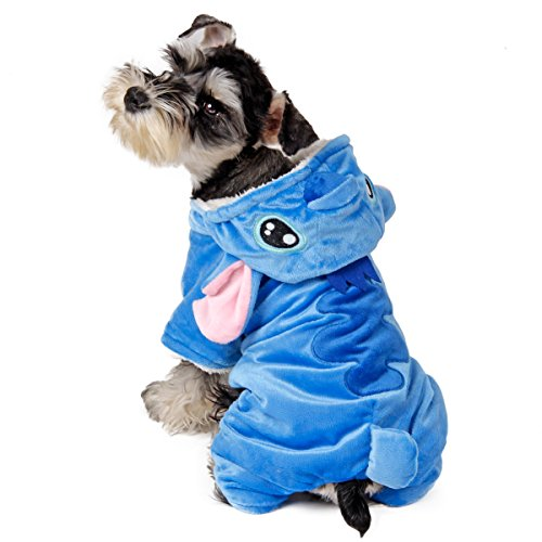 Speedy Pet Dog Clothes Cat Apparel Adorable Costume Double Layer Soft Wool Fabric and Fleece Size S (Lilo And Stitch Dog Costume)