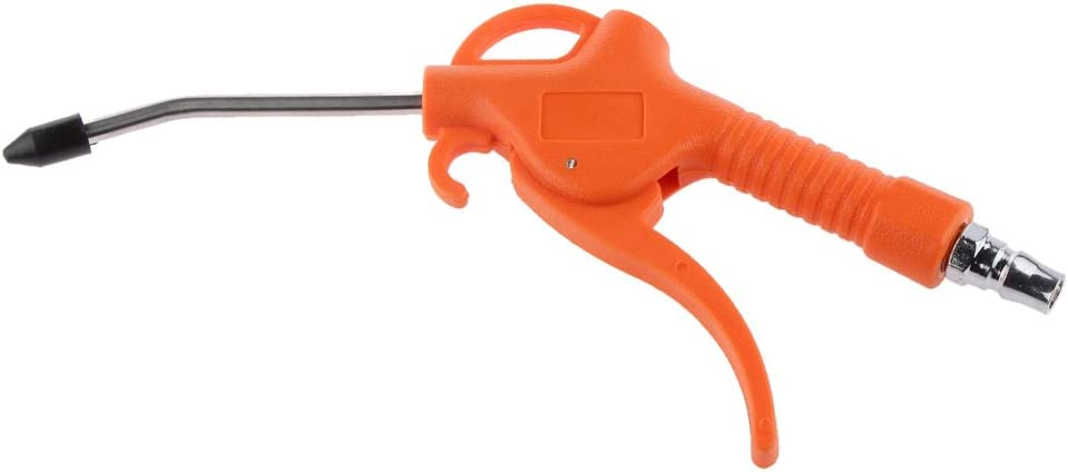 Plástico Pistola de Limpieza de Tubos Lanza de Polvo de Soplado de Aire Plumero Naranja