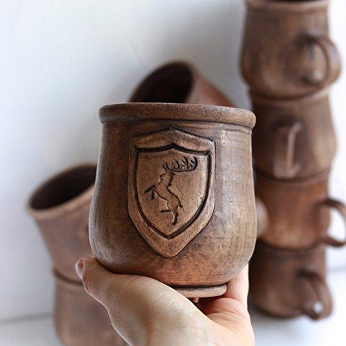Games of Throne coffee mug BARATHEON mug Handmade ceramic mug Handmade pottery mug Gift for men Eco friendly Drinkware