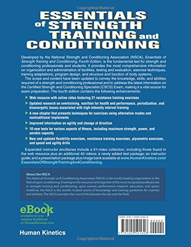 Essentials of Strength Training and Conditioning: Amazon.co.uk: NSCA  -National Strength & Conditioning Association, G Greg Haff, N Travis  Triplett: 9781492501626: Books