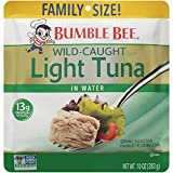 BUMBLE BEE Family Size Light Tuna Pouch, Tuna Fish, High Protein Food, Keto, 10 Oz, 1 Pouch For Sale