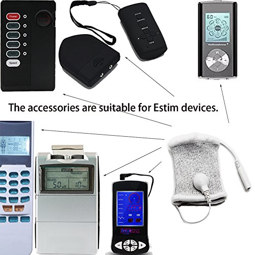 TCFAFA E-stim Adjustable Fabric Silver Thread Conductive Loop Accessories for Tens Or Electrotherapy Devices Stim Massager 2*Loops+2*Universal Wire by TCFAFA (Image #6)