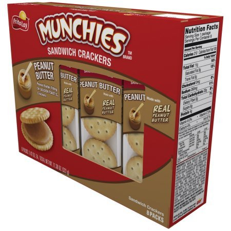 Munchies Sandwich Crackers Peanut Butter 11.36 Oz (Pack of 2) by Frito Lay