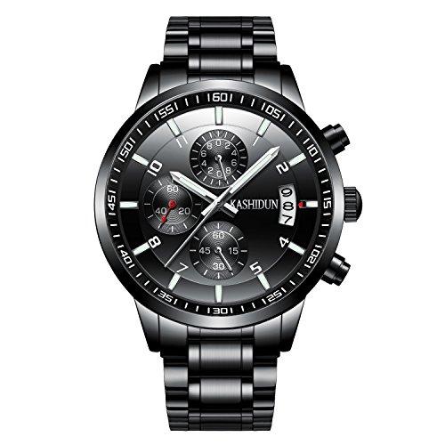 KASHIDUN Men's Wrist Quartz Watches Medium Watch Case Watch Batteries Strap Box Watches For (Case Strap Watch)