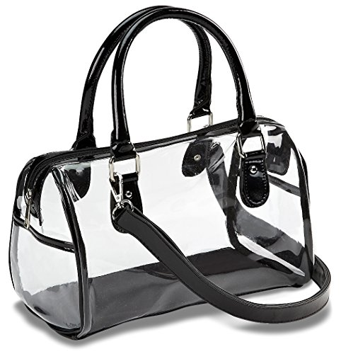 Handbag Satchel Clear - Designer Inspired Clear Satchel Handbag