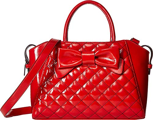 (Betsey Johnson Women's Bow Satchel Red One Size)
