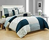 RT Designers Collection Hanover Embroidered 5-Piece Comforter Set, Queen